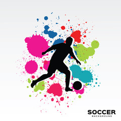 Abstract background with player football silhouette.