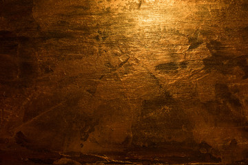 Abstract golden metal structure background