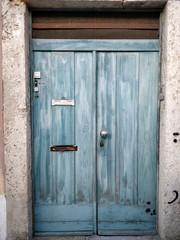 Light blue doorway in Lisbon.