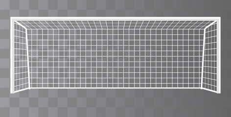 Soccer goalpost, Football goal on a transparent background. Vector