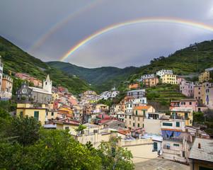 Riomaggiore colorful houses
