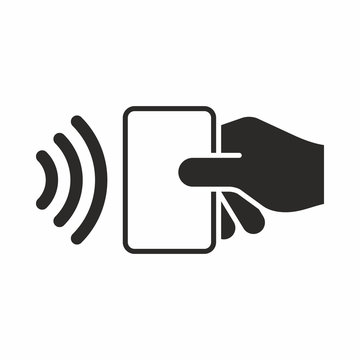 Contactless payment. Near-field communication (NFC). Vector icon.