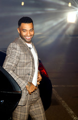 Contestant Jermaine Pennant arrives as the reality show 'Celebrity Big Brother' starts, in Elstree