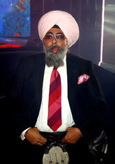 Contestant Hardeep Singh Kohli arrives as the reality show 'Celebrity Big Brother' starts, in Elstree