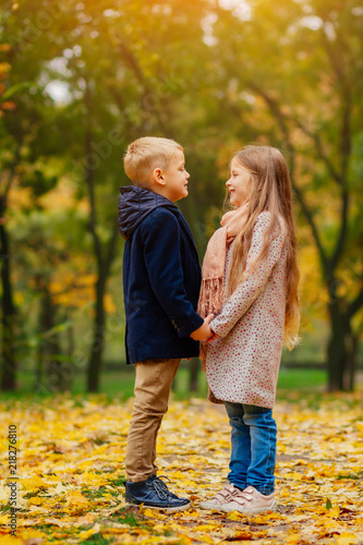 Childrens Friendship First Love Romantic Date Little Boy And