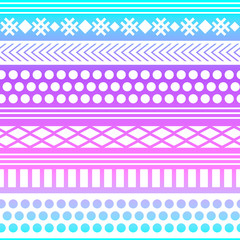 Ethnic boho tribal indian seamless pattern. Colorful pattern for textile design. Vector illustration.