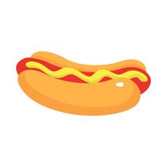 Street food of hotdog icon. Isometric of street food of hotdog vector icon for web design isolated on white background