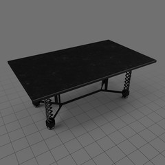 Metal rectangular table