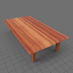Low rectangular table