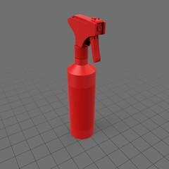 Cylindrical liquid spray bottle