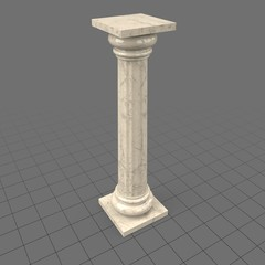 Fluted column with capital