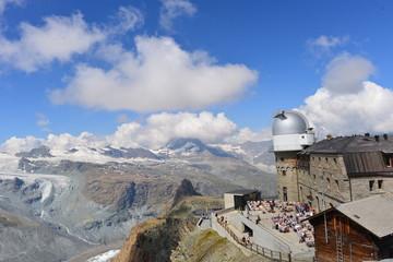 Forschungs- und Bergstation Gornergrat in den Walliser Alpen - Schweiz