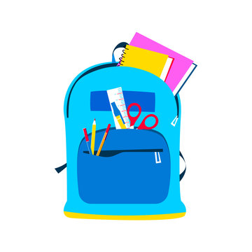 School backpack for children and education concept