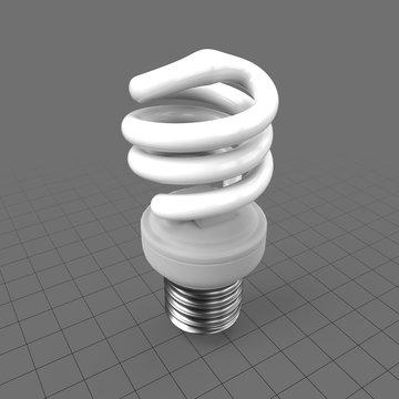 Compact fluorescent spiral lamp