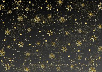 雪の結晶 星空 ゴールド