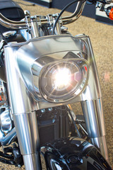Motorcycle - Retro Design - Stainless Steel and Chrome