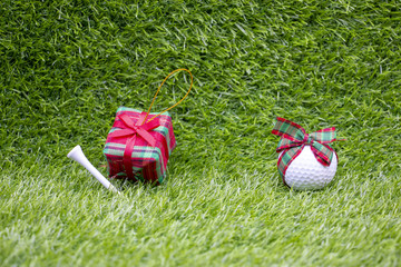 Fotobehang Merry Christmas to golfer