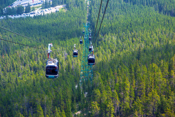 Sulphur Mountain Gondola in Banff National Park