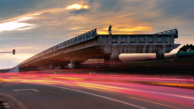 Survey on concrete bridge