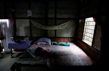 A room is seen inside the house of Sahar Bhan Bewa