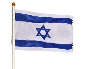 Flag of Israel isolated on white background