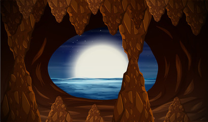 Cavern with ocean entrance