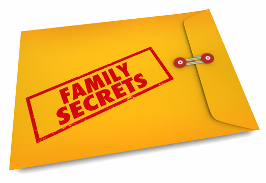 Family Secrets Heredity Ancestry Research 3d Illustration