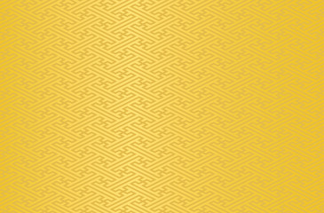 Japanese traditional geometric pattern vector background yellow