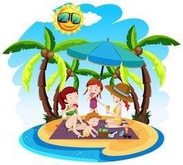 A summer beach holiday