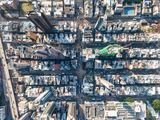 Wall Mural - Aerial view of Hong Kong city