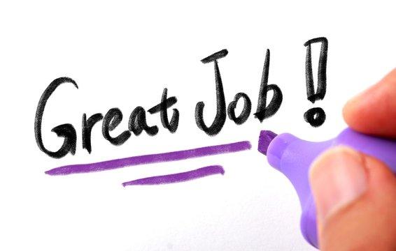 Great Job Concept