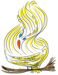 Cute yellow bird.