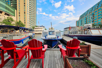 Toronto, Ontario, Canada-10 June, 2018: Toronto harbour cruise around Toronto Islands