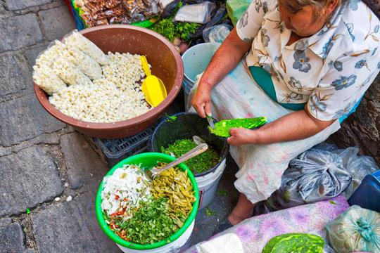 Guanajuato, Mexico-14 April 2018: Central Guanajuato Market (the Mercado Hidalgo) in the historic city center