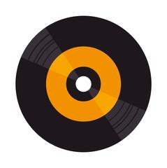 Fototapeta vinyl disk isolated icon obraz