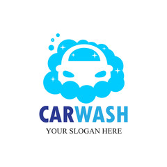 Car Wash Logo, Cleaning Car, Washing and Service Vector Logo Design