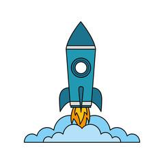 rocket launch startup cartoon image