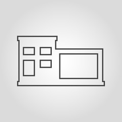 Home isolated flat linear vector icon