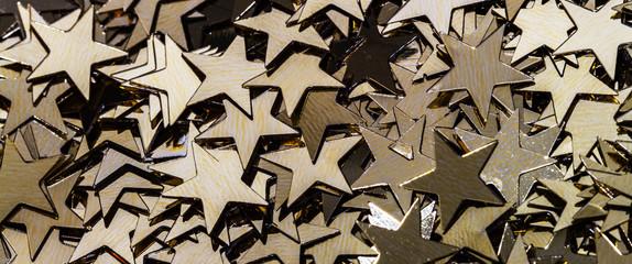 Goldene Sterne Dekoration Schmuck