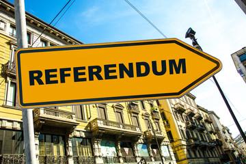 Schild 285 - Referendum