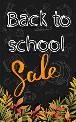 Banner Back to school. Sale