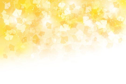 秋のカラフルなイチョウの風景(背景画)