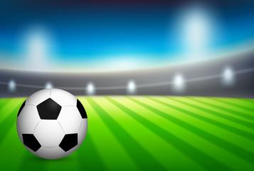 A football at stadium