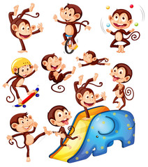 A set of monkey character
