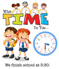 Students finish school at 3:30