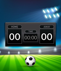 A football scoreboard template