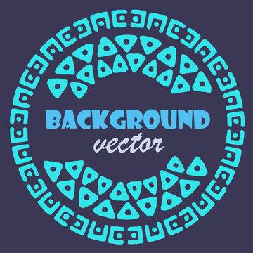 Hand drawn round frame, decorative design element, magic circle border ornament. Vector