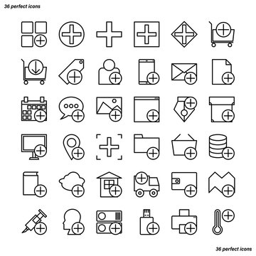 Add Outline Icons perfect pixel.