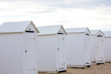 Traditional bathing cabins, France