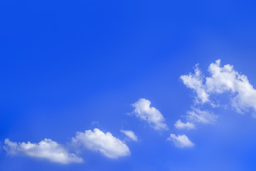 Wall Mural - bright blue sky with clouds background